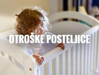 Otroške Posteljice - največja izbira otroških posteljic v Sloveniji.Otroške postelje v beli barvi in barvi bukve.