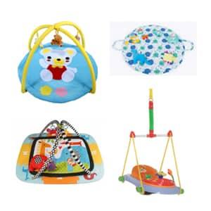igrače za dojenčke in malčke velika ponudba ropotuljic in igralnih blazin za dojenčke.Skakalne vzmeti za obok vrat.
