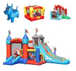 Napihljiva igrala različnih dimenzij in barv za 2 oziroma 10 otrok.