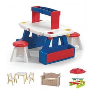 Otroška lesena miza in klop po ugodni ceni.Otroška miza in stolčki različnih blagovnih znamk po dostopni ceni.