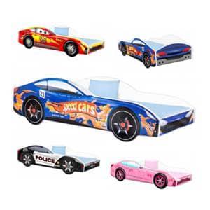 Otroške posteljice 160x80 cm Otroške Posteljice Amila - Avtomobili - 140x70 - 160x80 cm akcija