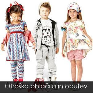 Otroška oblačila in obutev velika ponudba v Sloveniji