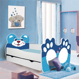 Otroške postelje 140x70 cm - Otroške Postelje Živali 140x70 - 160x80 cm