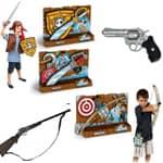 Pištole meči in loki za otroke.Pestra ponudba različnig vst igrač po ugodnih cenah.