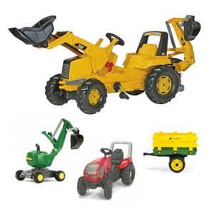 Traktorji na pedala in bagri na pedala od proizvajalca rolly toys in smoby so odlična izbira za vašega malčka.