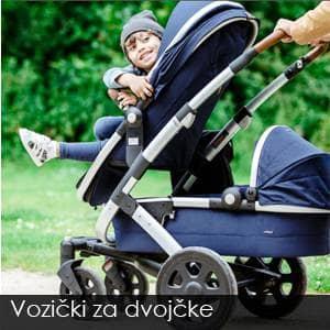 Vozički za dvojčke - ogromna izbira v Sloveniji