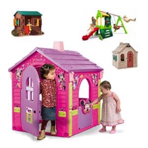 Vrtna igrala za otroke za veselje v zunanjem svetu za otroke.Vrtne hiške za otroke različnih dimenzij in blagovnih znamk.