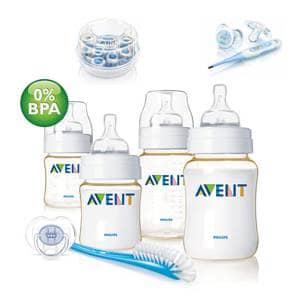 Zelo praktični in uporabni začetni kompleti za dojenčka, na voljo od priznanih blagovnih znamk