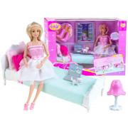 Očarljiva punčka z dodatki in posteljo -99051-ZA2169