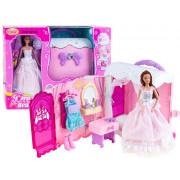 Romantična spalnica + punčka + dodatki - -99047-ZA2171
