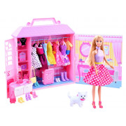 Anlily punčka + koča z oblačili + torbicami ZA 2228-99049-ZA2228