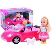 Punčka z avtom Anlily Kiki Love  ZA2805-88004-ZA2805