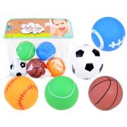 Rubber colored squeaking balls set 5 pcs ZA3511-560A-29-ZA3511