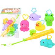 Rubber animals fishing rod, bath toy ZA3512-560A-48-ZA3512