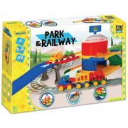 Play Tracks Železniška postaja -630 cm z dodatki - WADER