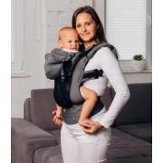 Nosilec za dojenčka LennyLamb Moj prvi LennyGo Ergonomski mrežasti nosilec, Baby  - Grafit