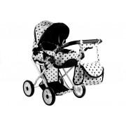 Otroški voziček Alice - bela s črnimi pikicami  Nosilka ,Torba, Posteljnina-3819
