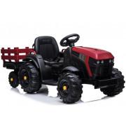 Električni Traktor z Prikolico - LeanToys - 12V - BDM0925-4169 - Rdeč