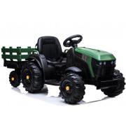 Električni Traktor z Prikolico - LeanToys - 12V - BDM0925-4170 - Zelen
