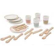 Kids koncept Bistro leseni Set jedilnih posod 1000565
