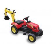 Traktor na pedala z zadnjo nakladalno roko  -5229 - Rdeč