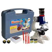 Otroški izobraževalni mikroskop velikega znanstvenega kovčka 100x 400x 1200x-6868