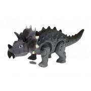 Dinozavrski sivi triceratops na baterije-7188