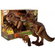 Daljinsko voden dinozaver Tiranozaver + Vodna pištola rumene barve-7738