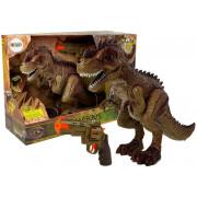 Daljinsko voden dinozaver Tiranozaver + vodna pištola - zvok -  zelena-7739