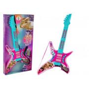 Električna kitara roza 62 cm z lučmi in zvoki   -7817
