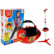 Mikrofon z LED lučmi za zvok stojala MP3 Karaoke-7824