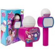 Otroški mikrofon brezžični karaoke Bluetooth zvočnik roza -7827