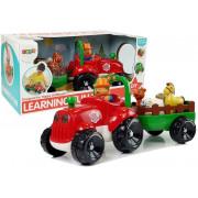 Traktor s prikolico, živali za dojenčke, baterije, luči, zvok -8297