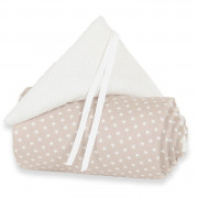 Obroba za Obposteljno Posteljico Babybay - Original Organic Cotton - Stars Light Brown/White - 100850