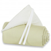 Obroba za Obposteljno Posteljico Babybay - Original Organic Cotton - Pastel Light Green/White - 100854