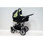 Otroški Voziček Baby Fashion Avatar 3v1 - Black-Light Green