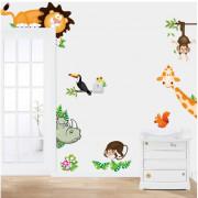 Stenske Nalepke za Otroke - Afriške Živali - 50x70 cm - FQ12164-CD0001