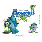 Stenske Nalepke za Otroke - Monster University - ZY1412 - 25x70cm