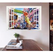 Stenske Nalepke za Otroke - Zootopia OKNO - SKUPAJ - 50x70 cm - AW3029