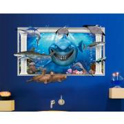 Stenske Nalepke za Otroke - Morski Pes BIG - AY9262 - 90x60cm