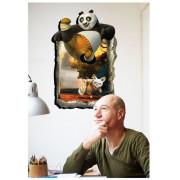 Stenske Nalepke za Otroke - Kung Fu Panda - AY9252 - 90x60cm
