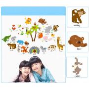 Stenske Nalepke za Otroke - Živali - ZOO - 60x90 cm - SK9296