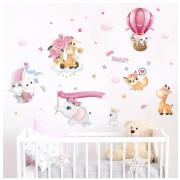 Stenske Nalepke za Otroke - Sweet Ljubljenčki - 50x70 cm - HM71009