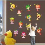 Stenske Nalepke za Otroke - Veselo Sadje - J8290 - 50x70cm