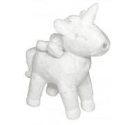 13603 Plišasta igrača Luigi samorog bela 25 cm