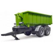 Bruder prikolica s kontejnerskim nakladalnikom za traktor Zelena - 1:16 - 02035