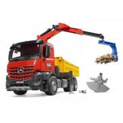 Bruder Mercedes Benz Arocs tovornjak prekucnik z žerjavom in dodatno opremo 1:16 - 03651