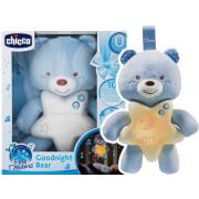 Nočna lučka medvedek - lahko noč Chicco - Modra