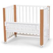 Otroška posteljica Kinderkraft KOYA 90-120x60, otroška posteljica, 4v1 - Belo Natur