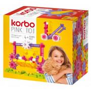Konstrukcijske kocke Korbo Pink 110 elementov